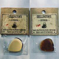 3 Pack NOS Celluloid 1920s-1940s Picks Tortoise Shell Jazz Cut Guitar Vintage
