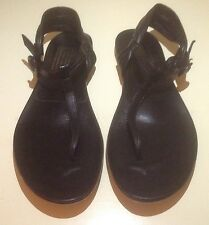 Preowned Pedro Garcia 39.5 Black Leather Sandals. Excellent Condition!