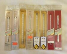 8 Speidel Silver Tone Womens Watch Wristwatch Bands New Old Stock Twist On Style