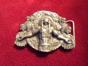 Siskiyou Limited Edition #801 Brass Indian Chief Belt Buckle