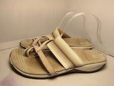Merrell Mandolin Wonens 11 Zinnia Aluminum Toe Loop Strappy Flip Flops Sandals