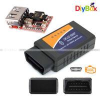 ELM327 V1.5 OBD2 Car Bluetooth Diagnostic Interface Scanner Step Down Converter