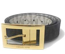 Michael Kors Women's MK Signature Twist Reversible Belt Vanilla&Black MSRP $48