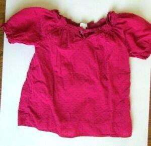 Girls Old Navy dark pink flare short sleeve blouse L