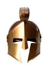 Helm Visier Kammbusch Rüstung Gladiator Rom Sparta Spartanerhelm Antik Braun H80