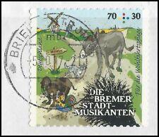 Bremer Stadtmusikanten 70+30 Cent - gestempelt - selbstklebend - Mi.Nr. 3287