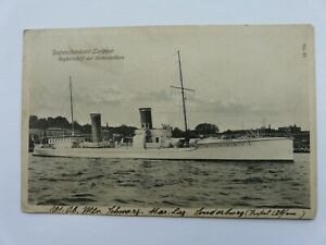 German dispatch boat Sleipner, escort ship of the Hohenzollern. Posted 1911