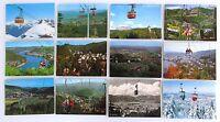 Postkarten Lot mit Bergbahn Sessellift Motiven 12 AK, Gondel, Gondelbahn, Berge