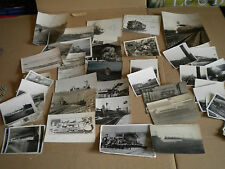 Vintage photographs and cards railways french and british 1930s