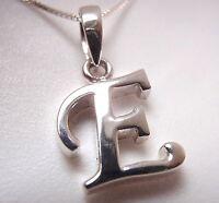 """The Letter """"E"""" Pendant 925 Sterling Silver Corona Sun Jewelry e"""