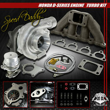 T04E 5PC T3/T4 TURBO KIT TURBOCHARGER+CAST MANIFOLD+WG D15/D16 CIVIC/CRX/DEL SOL