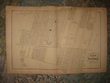 ANTIQUE 1873 CANARSIE EAST NEW YORK BROOKLYN NEW YORK CITY HANDCOLORED MAP RARE
