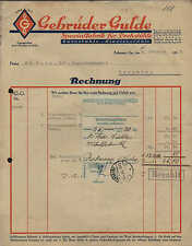 RABENAU i. Sa., Rechnung 1936, Spezial-Fabrik für Dreh-Stühle Gebrüder Gulde