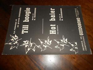 spartiti musicali vintage-TILL BOOGIE HOT BAIER -ED.MUS.GUIDOBONO