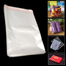100Pcs 22x30cm Clear Cellophane Self Adhesive Seal Cello Display Bags Plastic
