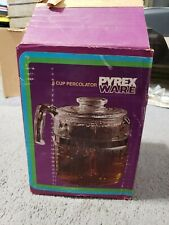 Pyrex Vtg 6 Cup Percolator No Coffee Pot GLASS 2 STEMS REPLACEMENT PARTS More