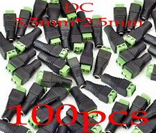 100pcs DC 5.5 x 2.5mm Power Female Jack Adapter Cable Plug Connector 12V CCTV