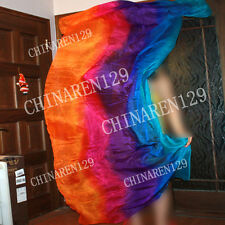 HAND MADE TIE-DYE BELLY DANCE 100% SILK VEILS  five colors veils free shipping