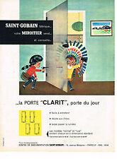 PUBLICITE ADVERTISING 0314   1960   SAINT-GOBAIN   miroitier LA PORTE CLARIT