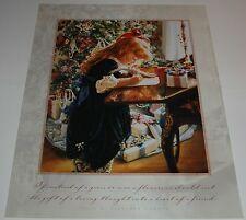 Sandra Kuck - DEAR SANTA - 14x11 Frameable Moments Christmas art print
