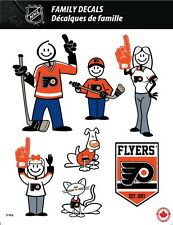 NHL PHILADELPHIA FLYERS STICK PEOPLE FAMILY DECALS ~ FULL COLOR VINYL DECALS