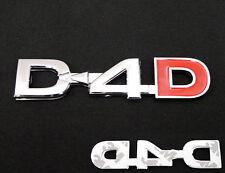 D4D Badge Emblem Decals Logo Chrome Toyota Hilux Vigo Sr5 Mk6 Mk7 Hiace 05 06 07