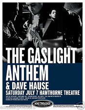 GASLIGHT ANTHEM / DAVID HAUSE 2012 PORTLAND CONCERT TOUR POSTER - Punk Rock