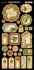Graphic 45 Twelve Days Of Christmas Die-Cut Chipboard Tags 1 4500740