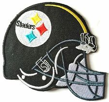 PITTSBURGH STEELERS FOOTBALL IRON ON EMBROIDERED PATCH SIZE 3.5 X 3  INCH