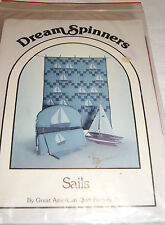 """Dream Spinners """"Sails"""" Quilt Pattern for Baby-Shaped Headboard Bumper Pad Sheet"""
