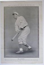 POLICE GAZETTE Supplement PHOTO OF JIM THORPE,  NY Giants, May 24, 1913,