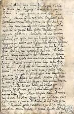 CASTELLUCCIA SALERNO CAMPANIA MANOSCRITTO 600sco