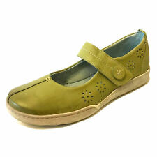 Moshulu Ladies Womens Leather Mary Janes Trainers Slip On Padded Comfort Shoes