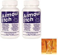 Glass Etching Cream 80g (2.8oz) Armour Etch® X 2 (Two Bottles)
