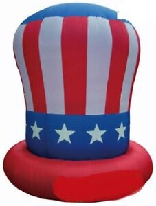 HALLOWEEN JULY 4TH PATRIOTIC MEMORIAL DAY UNCLE SAM HAT INFLATABLE AIRBLOWN 10FT