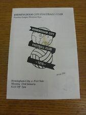 23/01/1995 Birmingham City reservas V Port Vale reservas (cuatro páginas, doblado, M