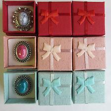 Lotto 20 confezioni regalo oggettistica per anelli bijoux bomboniere mix colori