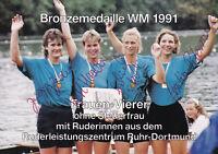 Rudern - Deutschland, Frauen-Vierer ohne Steuerfrau, Bronze WM 1991, Original!