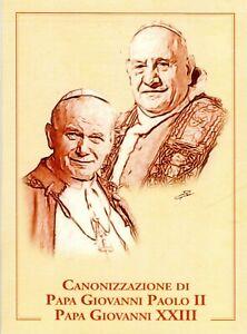FOLDER FILATELICO-TRITTICO CONONIZZAZIONE PAPA GIOVANNI PAOLO II E GIOVANNI XXII