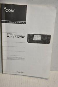 INSTRUCTION MANUAL FOR ICOM IC 746PRO transceiver ham radio CLEAN