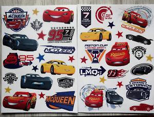 Disney Cars 3-- Fensterbilder--2 Bögen-Fenstersticker--Mc Queen,Jackson Storm...