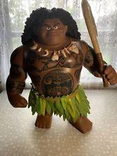 """New ListingDisney Moana Movie 16"""" Mega Maui Talking Singing Doll Action Figure Toy W/ Hook"""