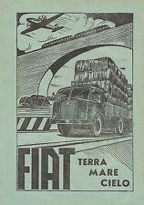 W0219 FIAT Terra Cielo Mare - Pubblicità 1949 - Advertising