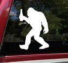 Bigfoot with Beer Vinyl Decal - Sasquatch PNW Bottle Wine - Die Cut Sticker