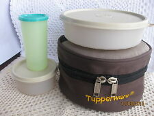 New Tupperware Classic Lunch Box w Insulated Case + Free tumbler A