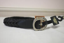 "Harley-Davidson Men's Black Leather ""Ranger Woven"" Belt XXL 98480-95VM"