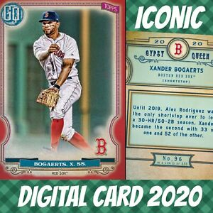 Topps Bunt 20 Xander Bogaerts Gypsy Queen Red Base Iconic 2020 Digital Card