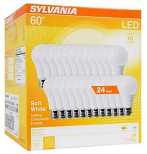 SYLVANIA General Lighting 74765 A19 Efficient 8.5W Soft 24 Pack, White
