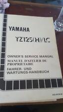 YAMAHA GENUINE SERVICE MANUAL YZ125 (H)