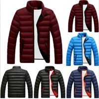 Men's Winter Quilted Padded Warm Jacket Puffer Bubble Down Coat Zipper  ce